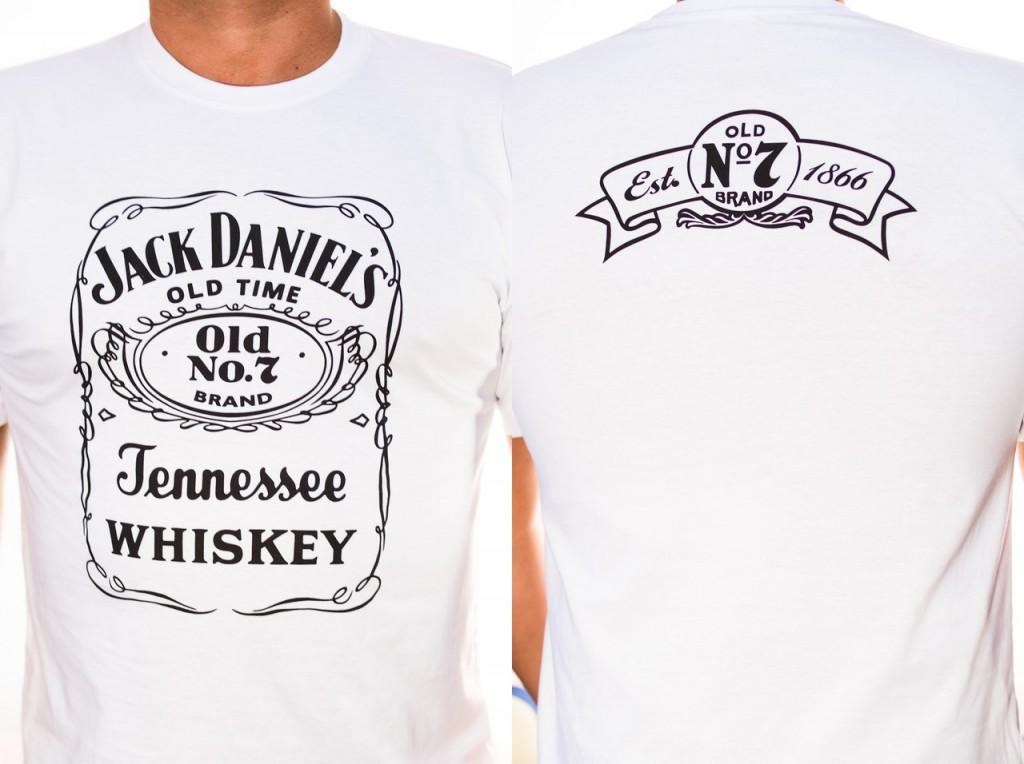 Футболка «Jack Daniels» белая