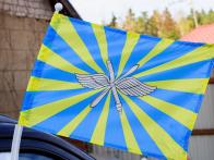 Флаг на машину с кронштейном ВВС РФ