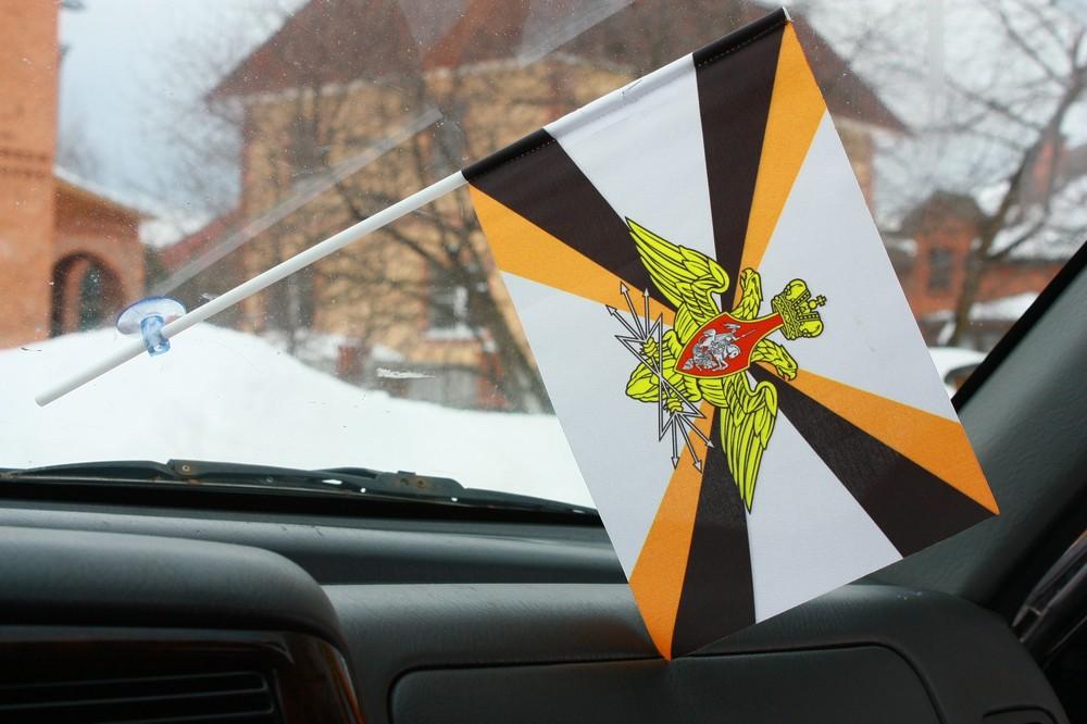 Флажок в машину с присоской Войска связи 2
