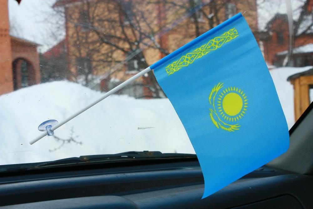 Флажок в машину с присоской Казахстан