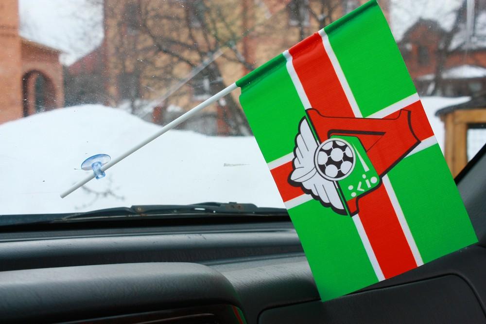 Флажок в машину с присоской Локомотив крест