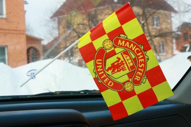 Флажок в машину с присоской ФК Манчестер Юнайтед