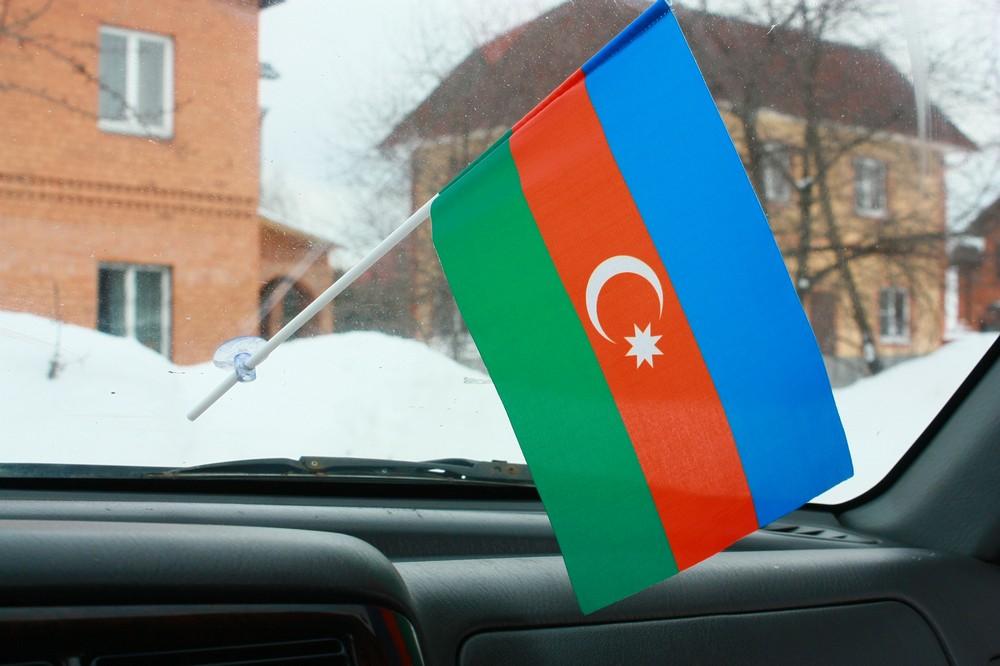 Флажок в машину с присоской Азербайджан