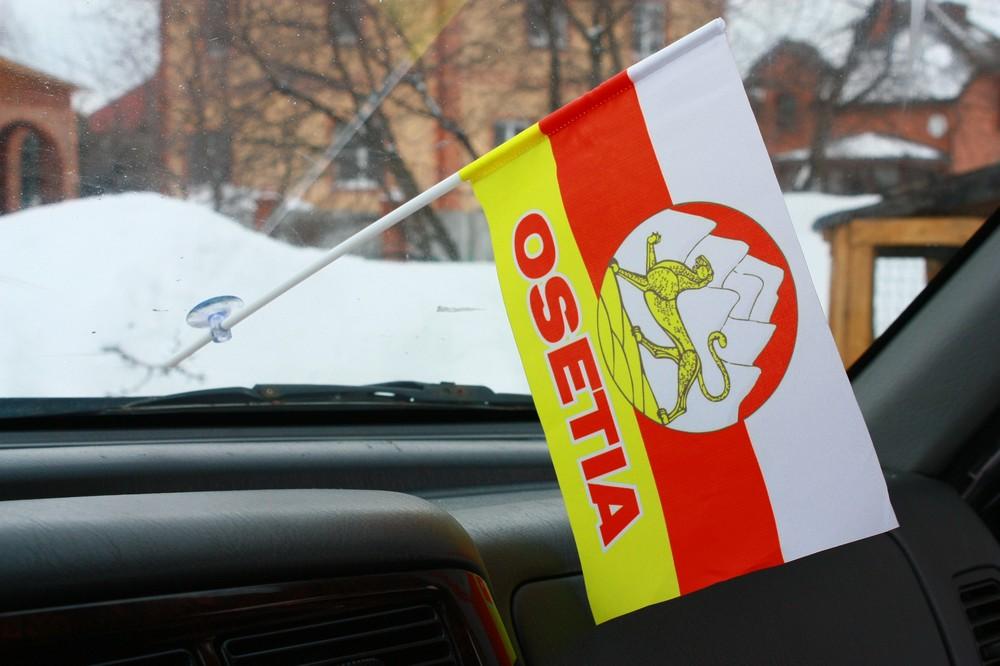 Флажок в машину с присоской Осетия с надписью