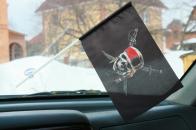 Флажок в машину с присоской Веселый Роджер