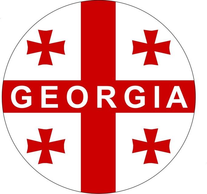 Наклейка «Флаг Грузии»