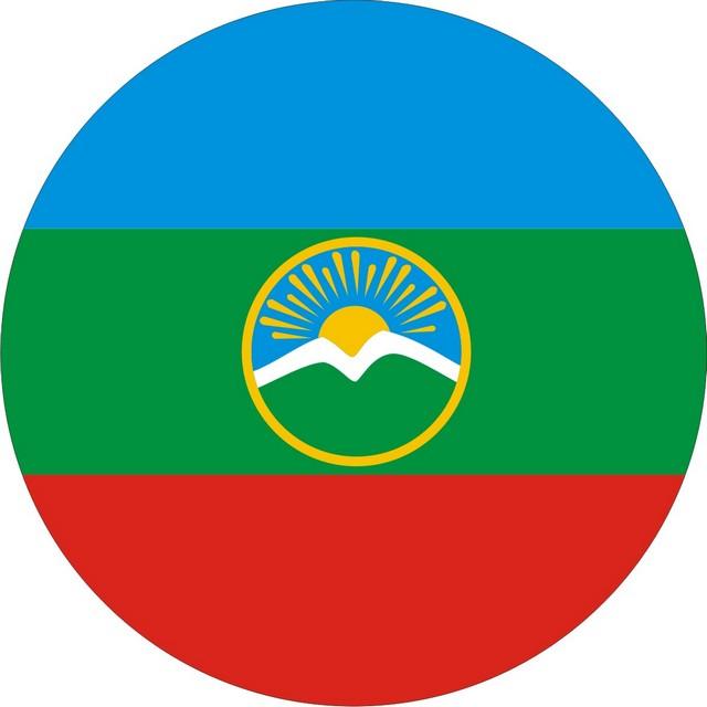 Наклейка «Флаг Карачаево-Черкесии»