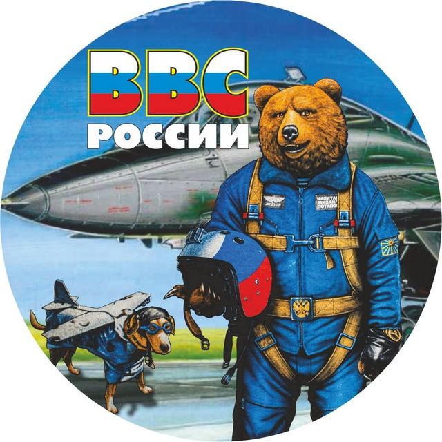 Наклейка ВВС «Медведь»