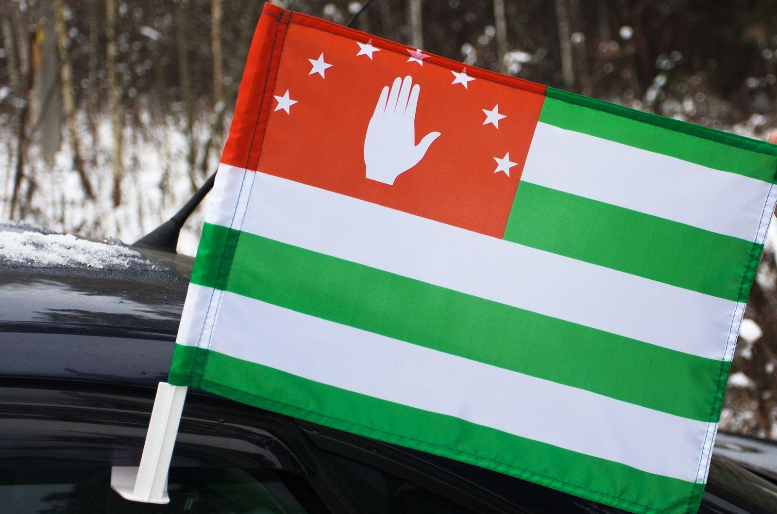 Абхазский флаг на машину