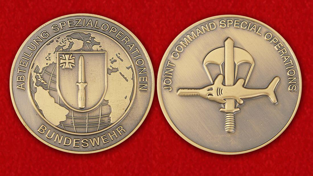 Abteilung Spezialoperationen Bundeswehr Challenge Coin - obverse and reverse