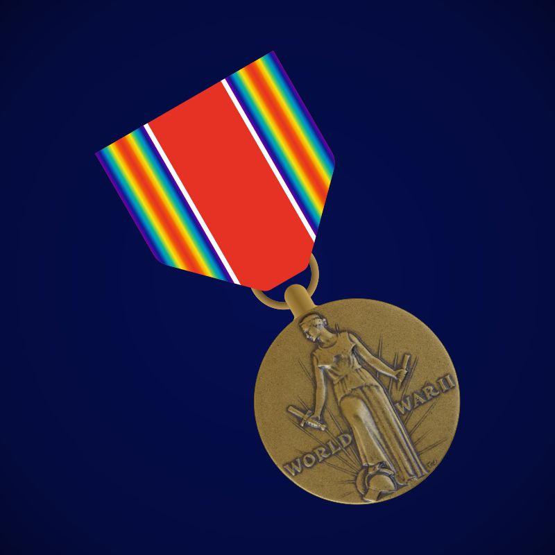 """Американская медаль """"За победу во II Мировой войне"""""""
