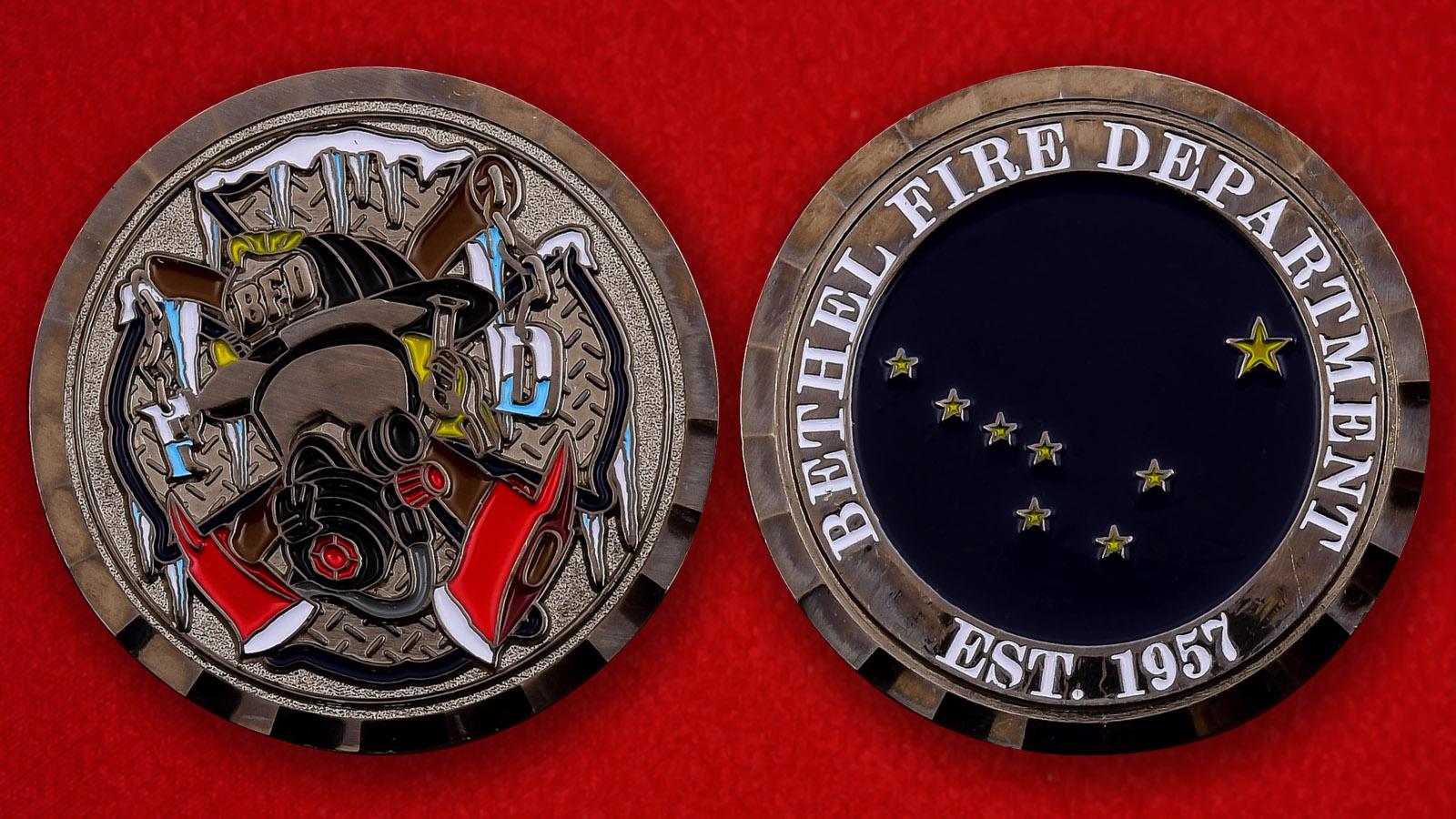 """Американская монета """"Пожарная охрана Бетела"""""""
