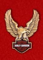 "Американский байкерский значок ""Харлей-Дэвидсон"" с орлом"