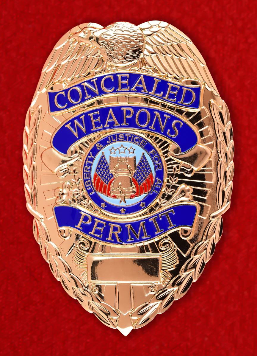 Американский жетон разрешения на ношение оружия