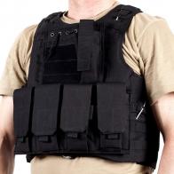 Военный тактический жилет FSBE черный