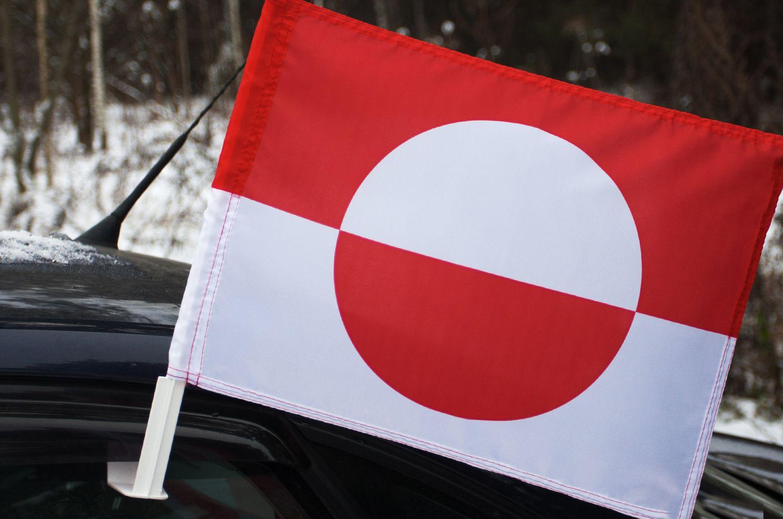 Автомобильный флаг Гренландии