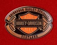 """Байкерский знак """"Харлей-Дэвидсон, Эдинбург, Шотландия"""""""