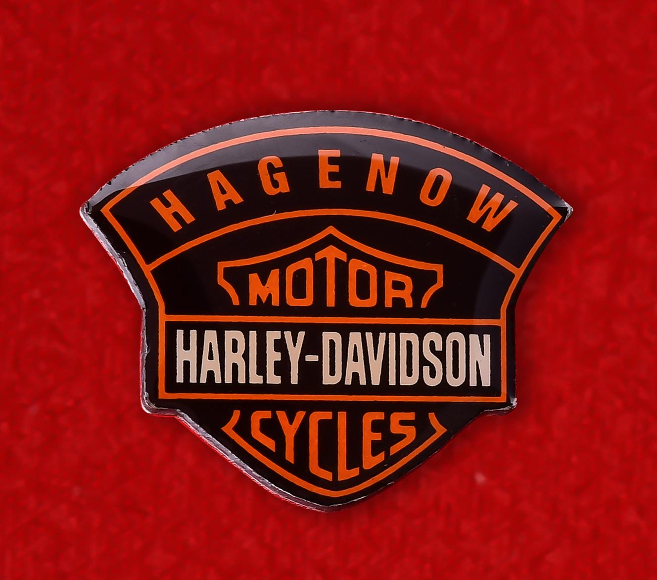 """Байкерский знак """"Харлей-Дэвидсон, Хагенов, Германия"""""""