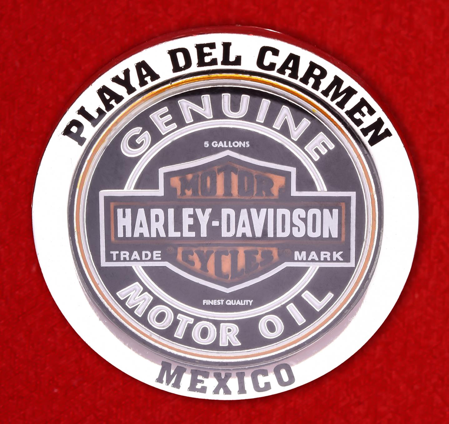 "Байкерский знак ""Харлей-Дэвидсон, Плайя-дель-Кармен, Мексика"""