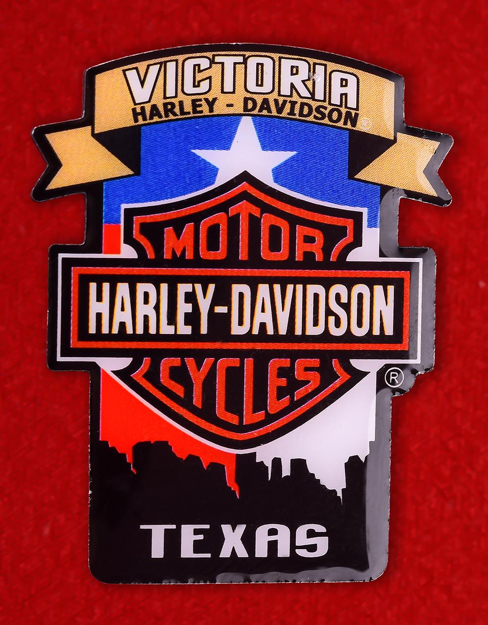 "Байкерский знак США ""Харлей-Дэвидсон, Виктория, Техас"""