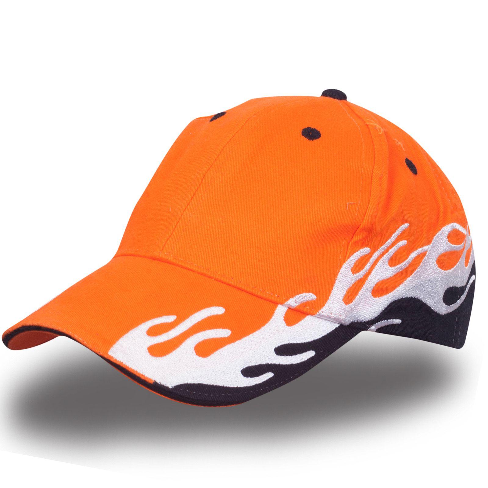 Оранжевая бейсболка с рисунком - купить в интернет-магазине с доставкой