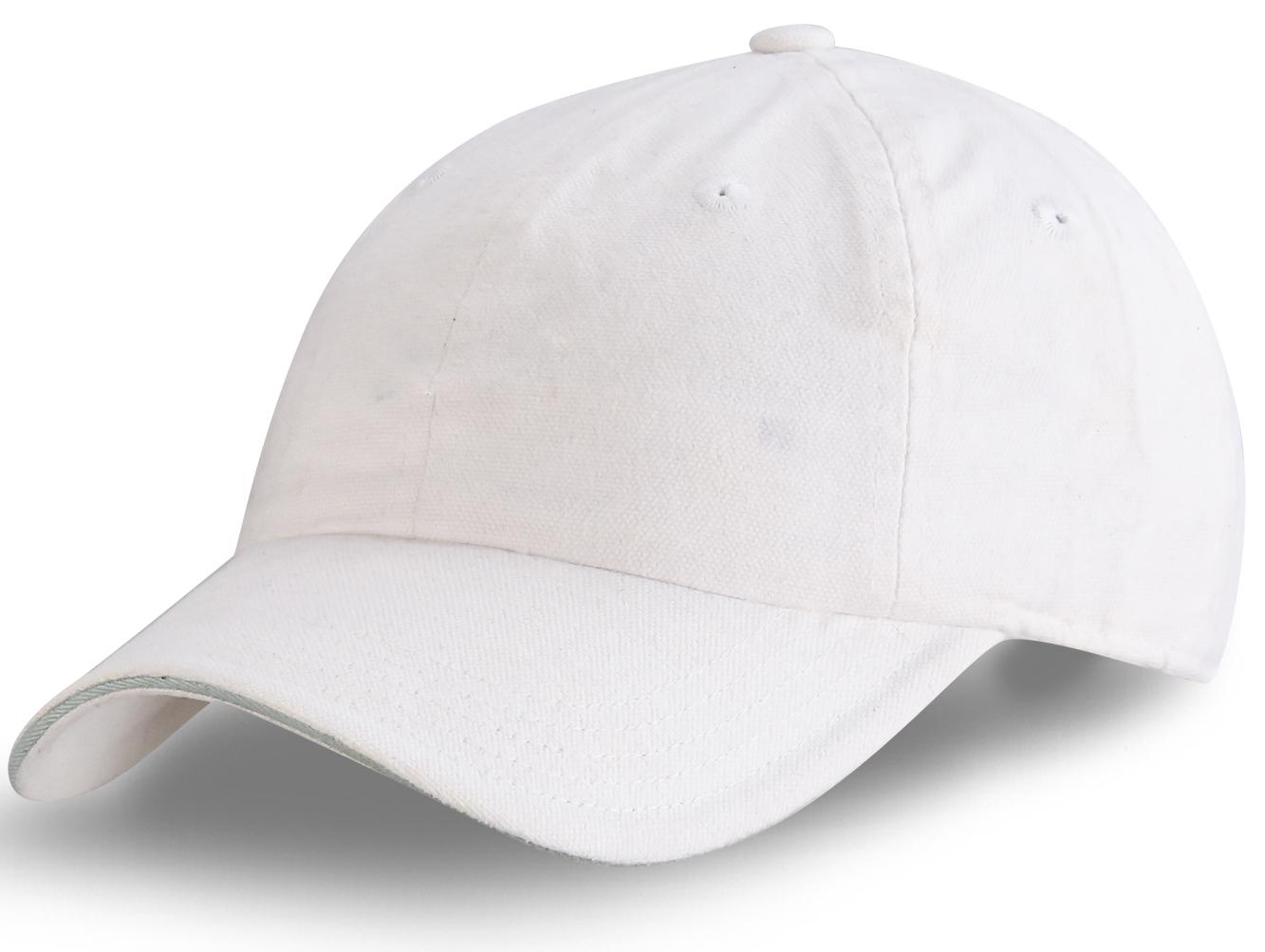 Белая бейсболка - отменного качества