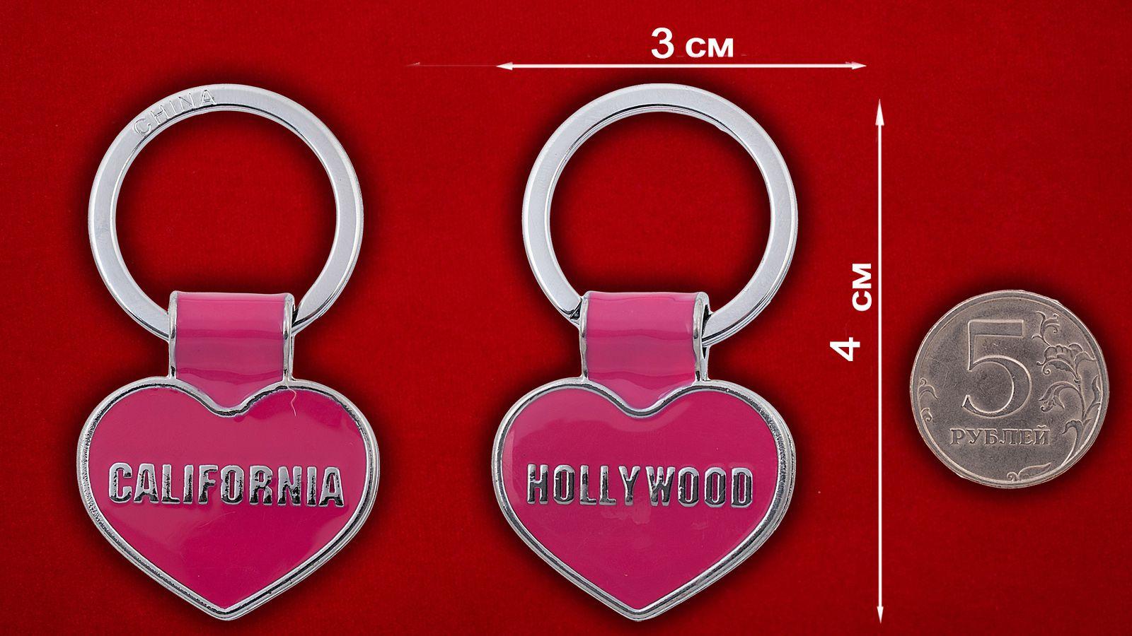 """Брелок """"Голливуд"""" - сравнительный размер"""