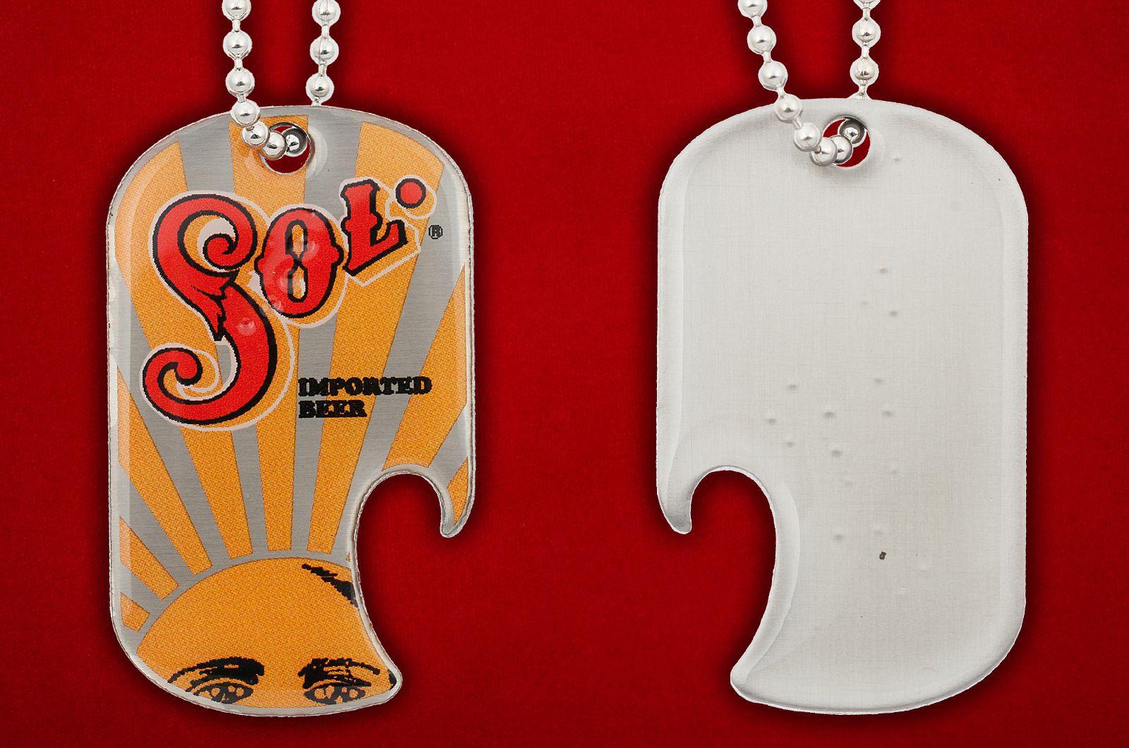Брелок-открывалка SOL - обе стороны