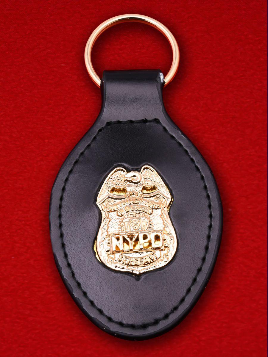 """Брелок с жетоном """"Сержант полиции Нью-Йорка"""""""