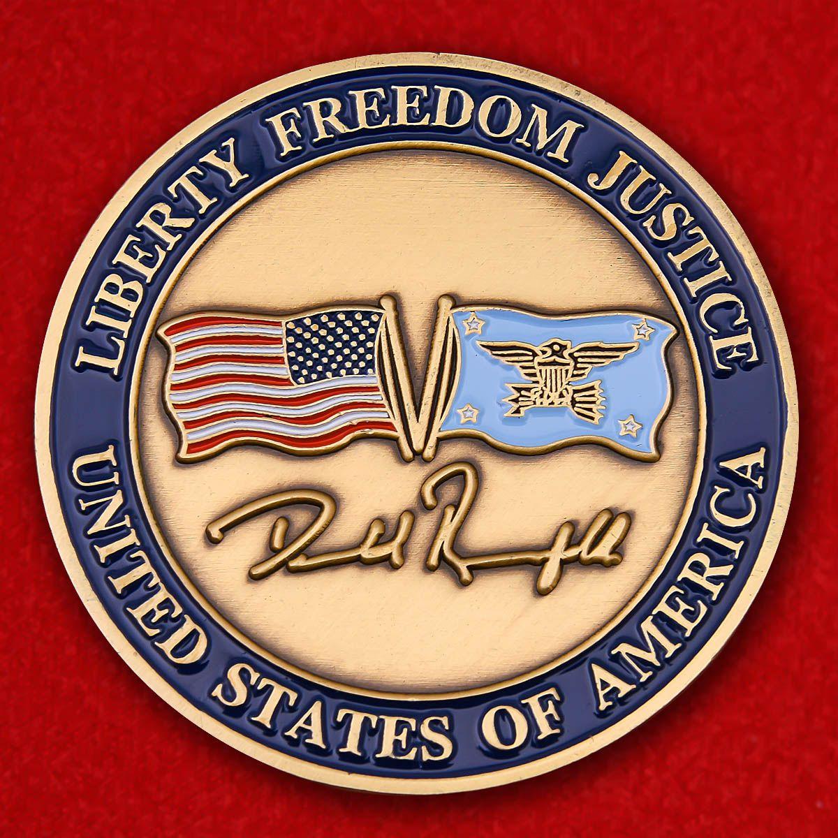 "Challenge Coin ""US Defense Secretary Donald Rumsfeld"""