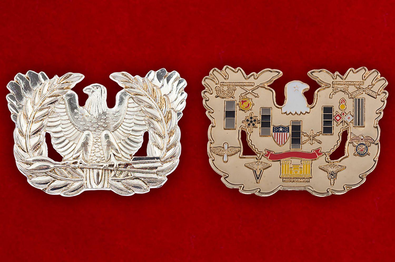 Челлендж коин Армии США - аверс и реверс