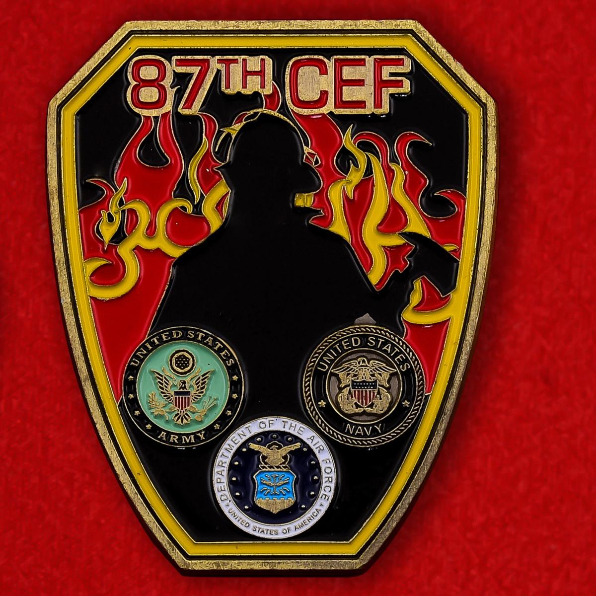 Челленддж коин 87-й группы чрезвычайных ситуаций экспедиционных сил базы МакГвайр-Лейкхерст, Нью-Джерси