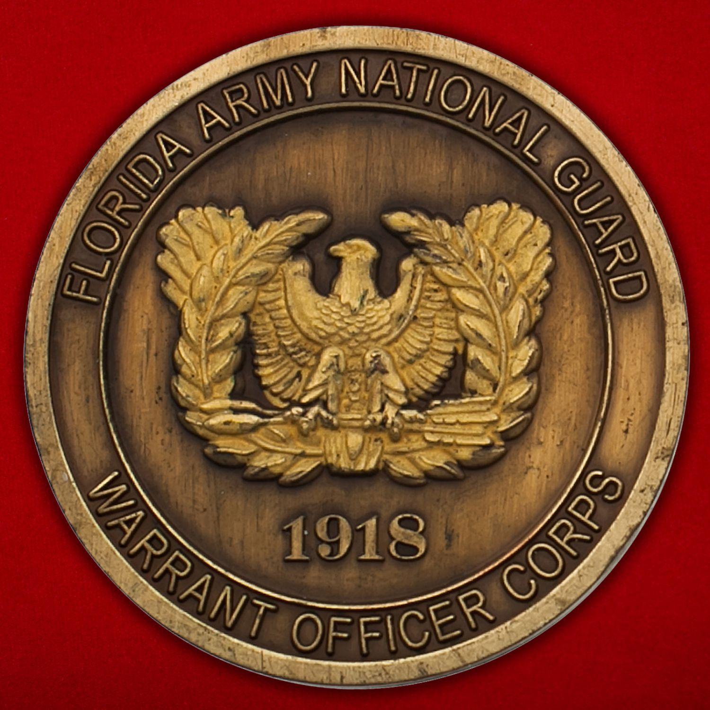 Челлендж коин прапорщика Национальной гвардии США (Штат Флорида)