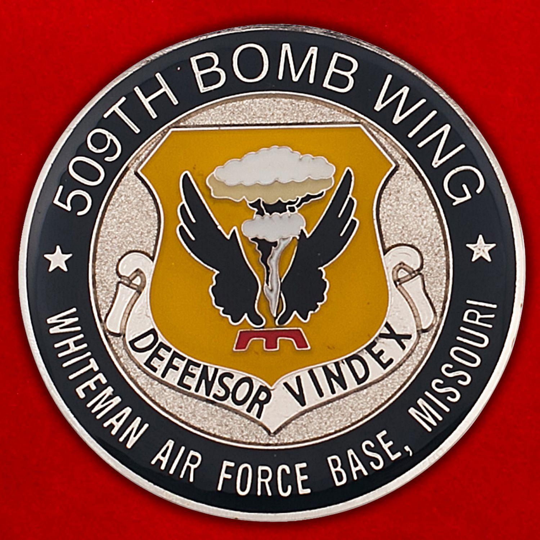 Челлендж коин 509-го крыла стратегических бомбардировщиков ВВС США