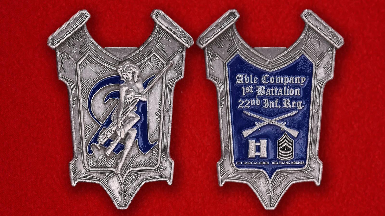 Челлендж коин 1-го батальона 22-го пехотного полка армии США