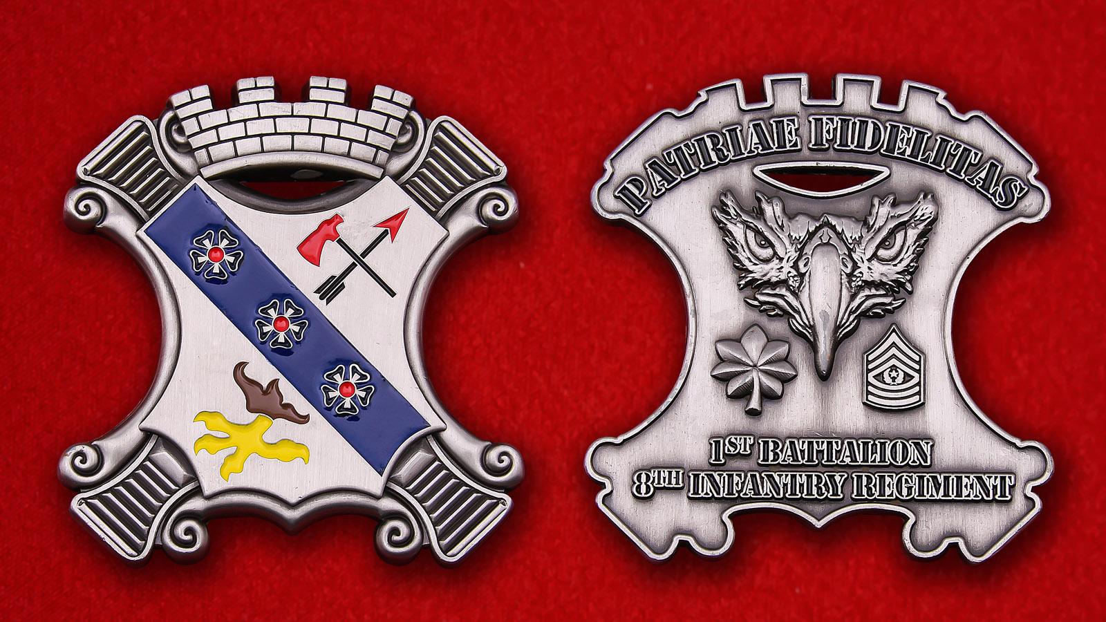 Челлендж коин 1-го батальона 8-го пехотного полка Армии США
