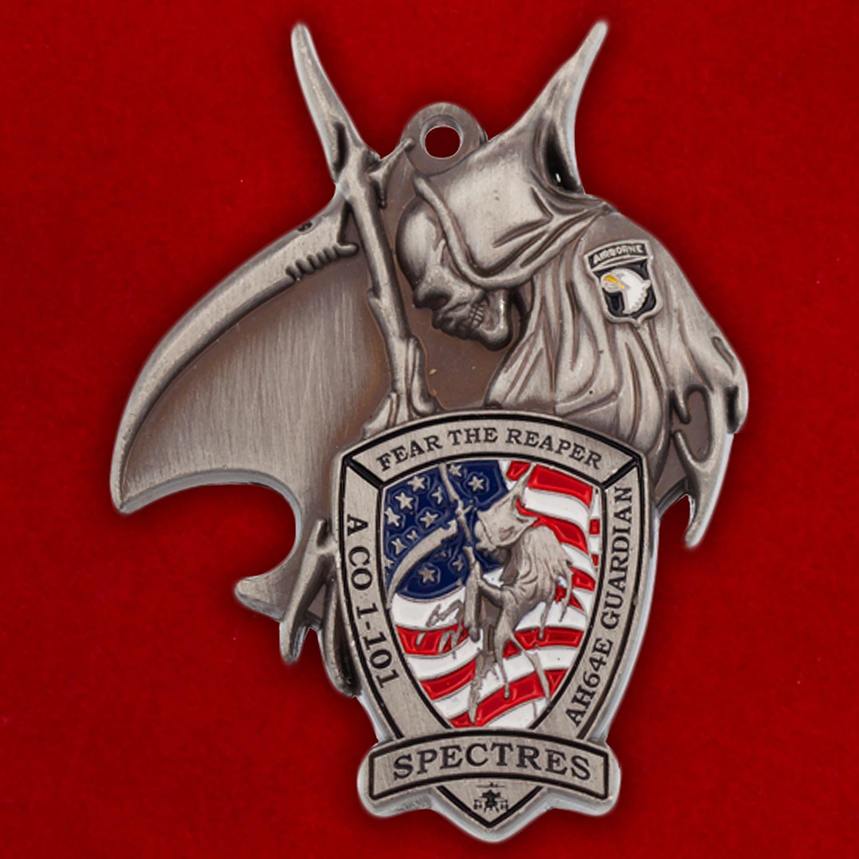 """Челлендж коин """"1-й Бригадной тактической группе 101-й дивизии ВДВ за операцию Несокрушимая свобода"""""""