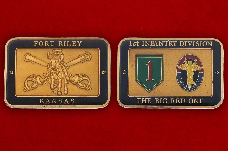 Челлендж коин 1-й Пехотной дивизии Армии США - аверс и реверс