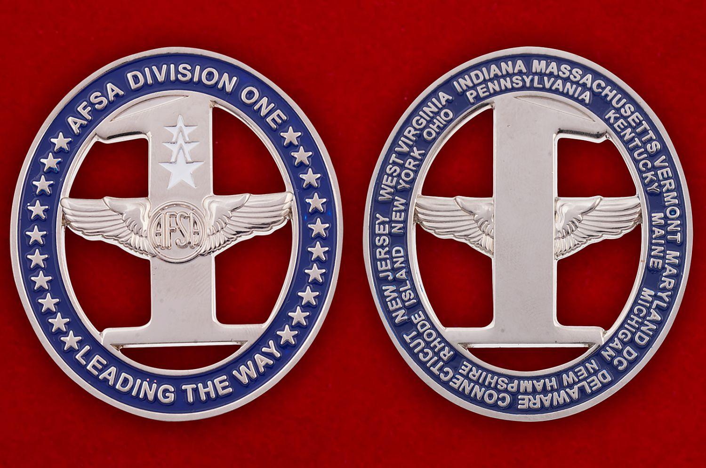 Челлендж коин 10-го отдела Ассоциации сержантов ВВС США - аверс и реверс