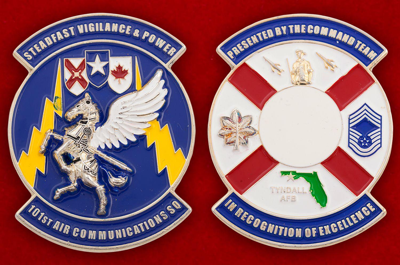 Челлендж коин 101-й эскадрильи связи ВВС США