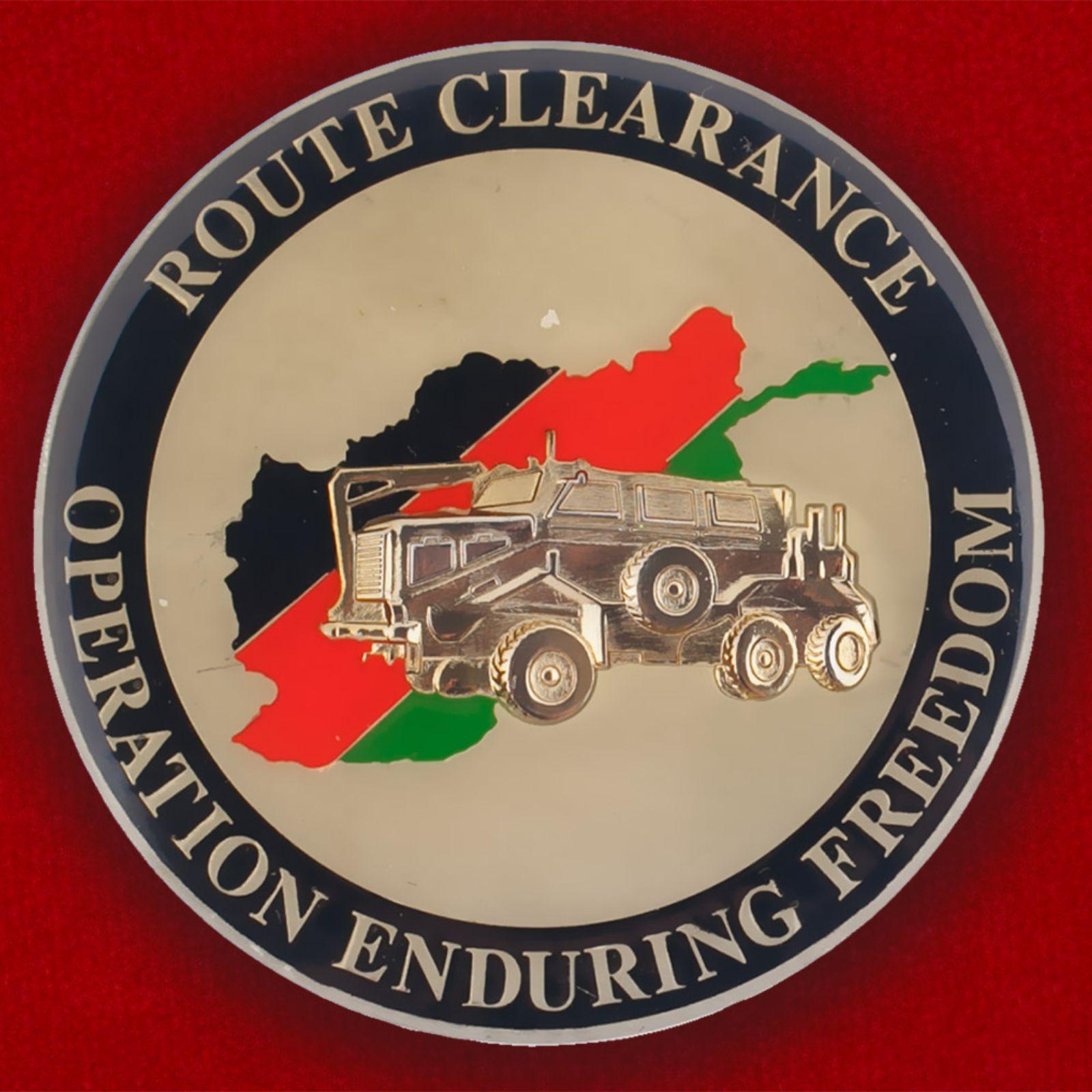 """Челлендж коин """"1141-му Инженерно-саперному батальону за операцию Несокрушимая свобода"""""""