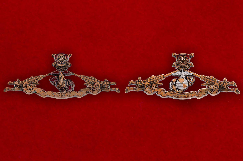Челлендж коин 12-го Артиллерийского полка Корпуса Морской пехоты США - аверс и реверс
