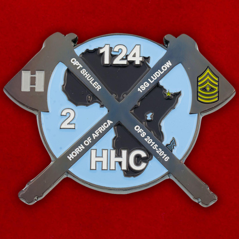 Челлендж коин 124-го Пехотного полка Нацгвардии США
