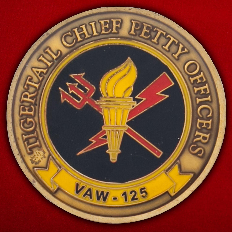 Челлендж коин 125-й эскадрильи радиолокационной разведки ВМС США