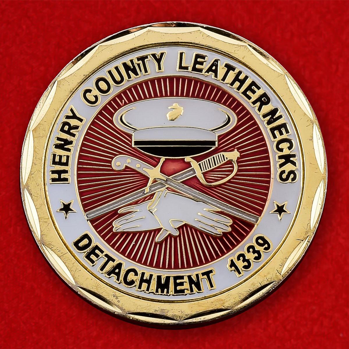 "Челлендж коин ""1339 отряд Лиги Корпуса Морской пехоты США"""