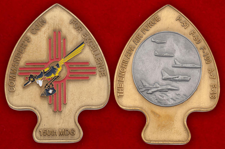 Челлендж коин 150-й Медицинской группы ВВС США - аверс и реверс
