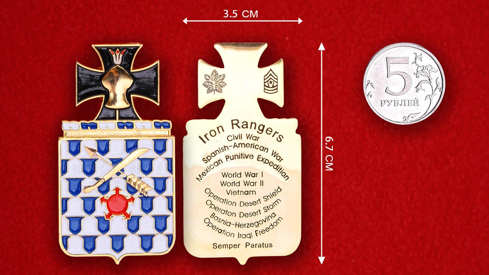 Челлендж коин 16-го пехотного полка армии США