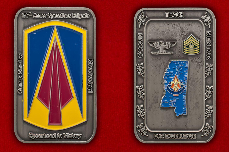 Челлендж коин 177-й бронетанковой бригады - аверс и реверс