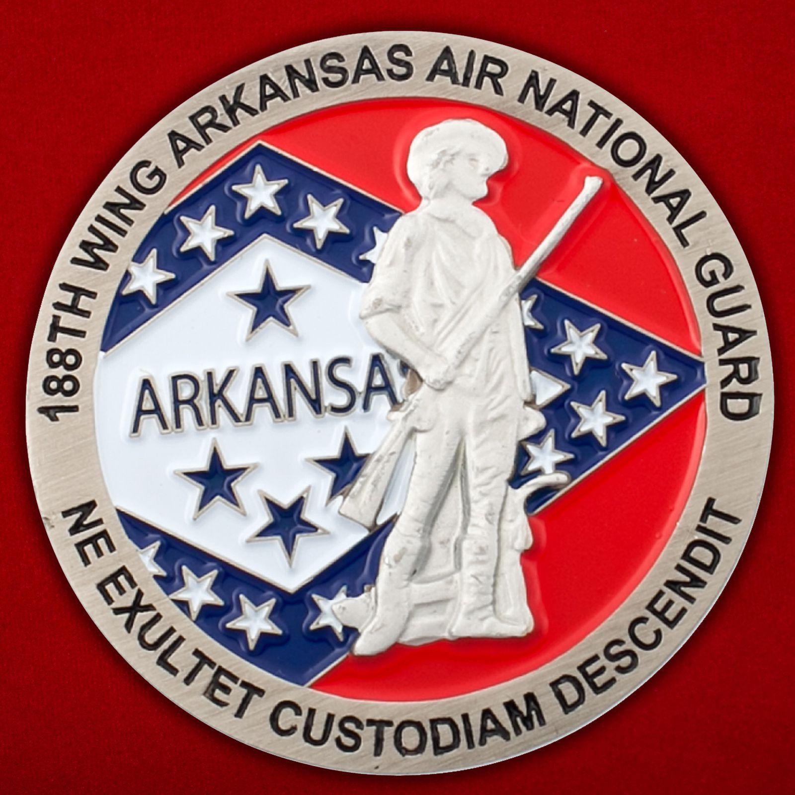 Челлендж коин 188 крыла авиации Национальной гвардии США (Арканзас)