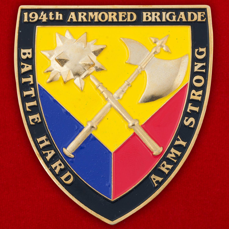 Челлендж коин 194-й Танковой бригады Армии США
